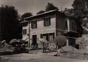 Cartolina anni 50 - Osteria Irma - Pensione Irma - Varese - Campo dei Fiori